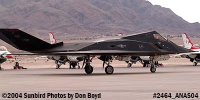 USAF F-117A Nighthawk at the 2004 Aviation Nation Air Show stock photo #2464