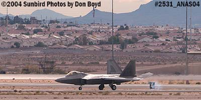 USAF F/A-22 Raptor #AF99-011 at the 2004 Aviation Nation Air Show stock photo #2531