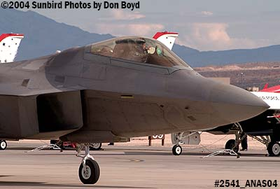 USAF F/A-22 Raptor #AF99-011 at the 2004 Aviation Nation Air Show stock photo #2541