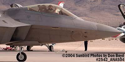 USAF F/A-22 Raptor #AF99-011 at the 2004 Aviation Nation Air Show stock photo #2542
