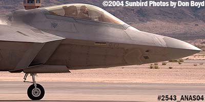 USAF F/A-22 Raptor #AF99-011 at the 2004 Aviation Nation Air Show stock photo #2543