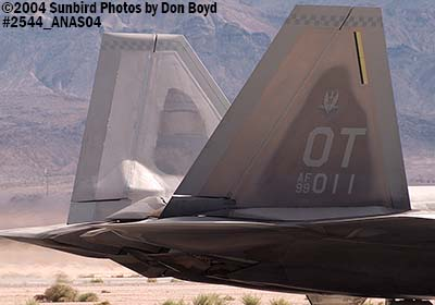 USAF F/A-22 Raptor #AF99-011 at the 2004 Aviation Nation Air Show stock photo #2544