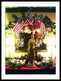 Patriotic Holiday display (Pines Tavern).