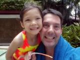 At the pool with Shannon in Bangkok: 2000
