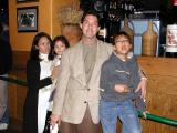 Out with the family for dinner: December 2000