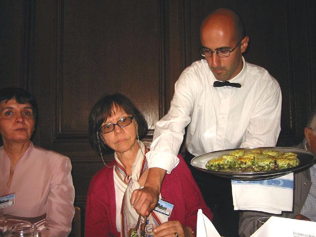 Waiter service at dinner