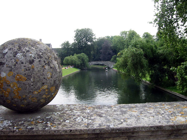 The bridge with its large spheres