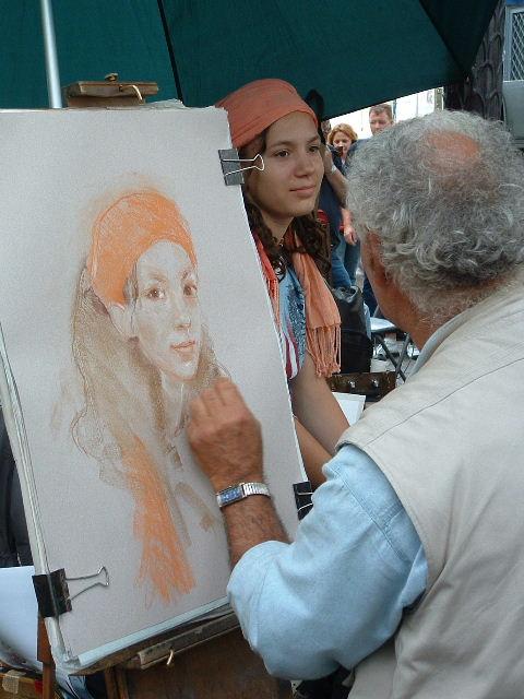 Street Artist near Sare Coeur