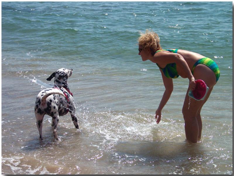 Cooling off her best friend.jpg