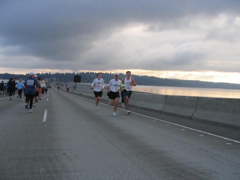 Uli leading the pack<br>I-90 Bridge</br>