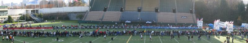 Finish Line Panorama<br>Memorial Stadium</br>