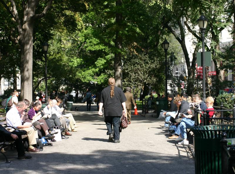 Union Square Park East Walkway