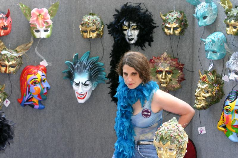 Masks for Sale at the Art Fair