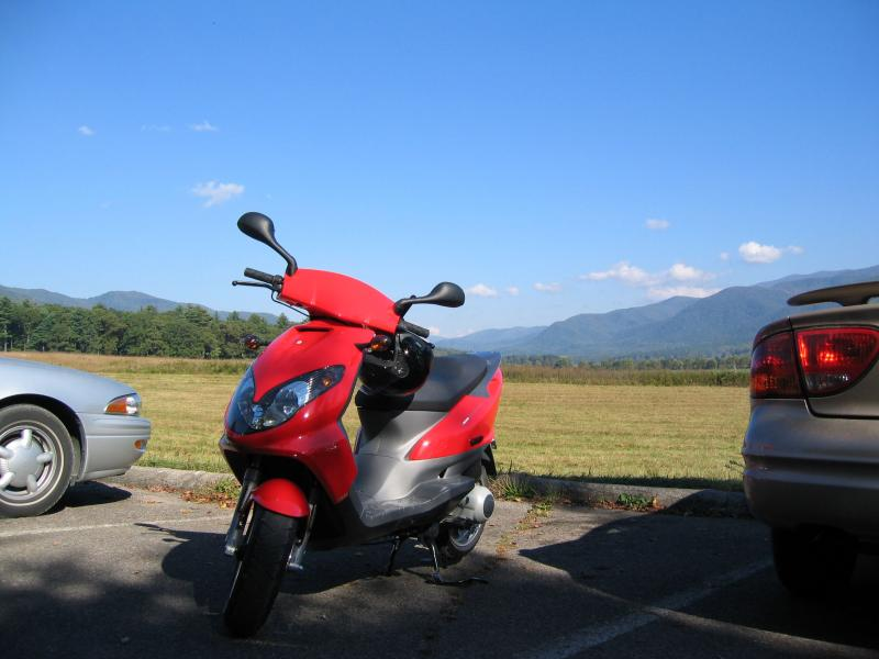 You can rent a motorbike for a closer look at the landscape.