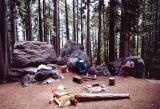 Campsite at Bearpaw Meadow, elevation 7800'