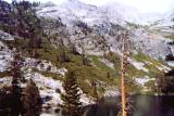 The continuation of the High Sierra trail, above Hamilton Lake
