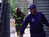 fireman walking east