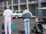 Robert Massion on the left &  American flag