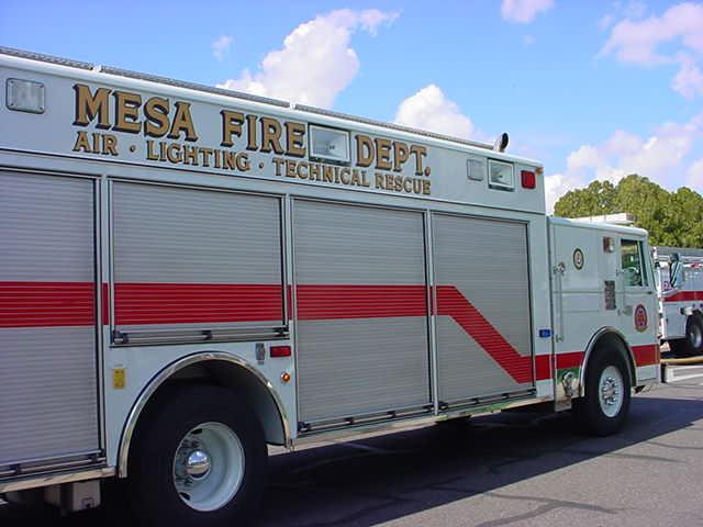 Mesa Fire Dept. <br>fire support truck