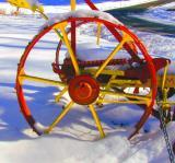 Mower Wheel in Snow