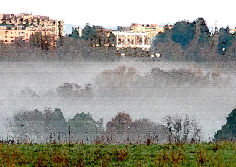 Morning fog (Hayes Island Effect)