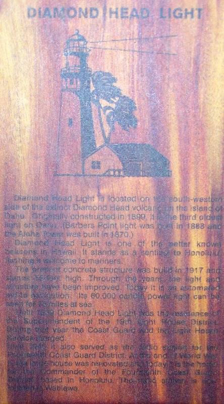 Diamond Head Lighthouse History
