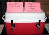 Two of the over dozen homebrews on tap