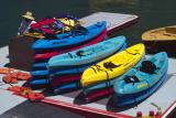 santa catalina CA lettering on kayaks show single pixel color features