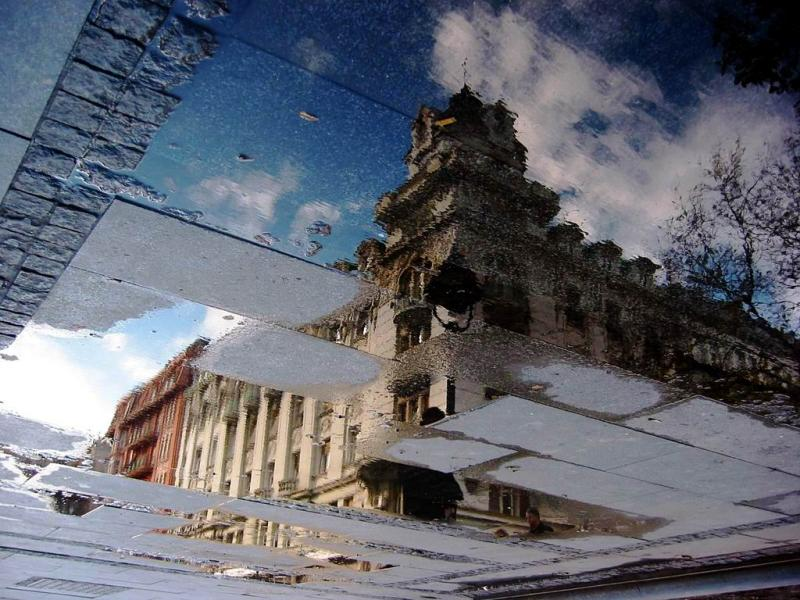 Reflection in Puddle, Belgrade