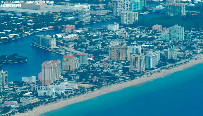 2003 - Broward beaches landscape aerial stock photo #6052