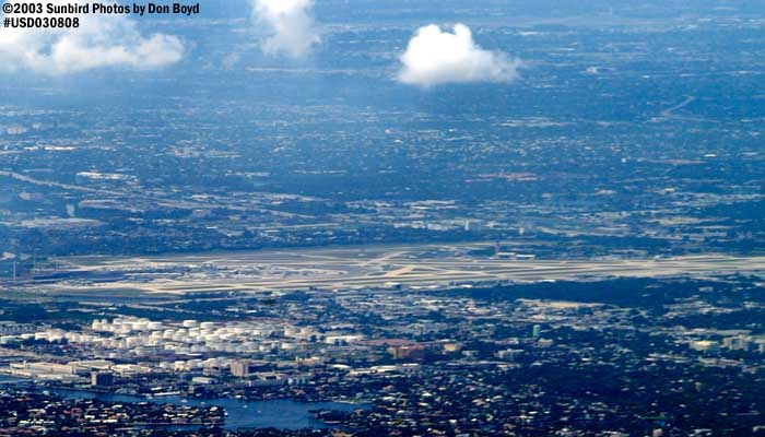 Port Everglades Inlet & Ft. Lauderdale-Hollywood Intl Airport airport aerial stock photo #6057