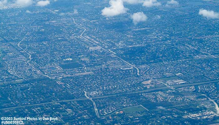 2003 - Parkland (foreground) and Coral Springs, FL landscape aerial stock photo #6063
