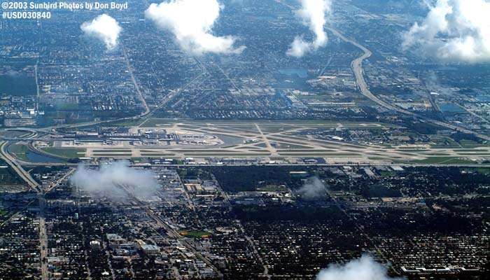 Ft. Lauderdale-Hollywood Intl Airport airport aerial stock photo #6588