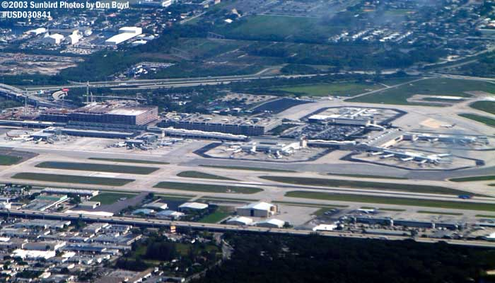 Ft. Lauderdale-Hollywood Intl Airport airport aerial stock photo #6589