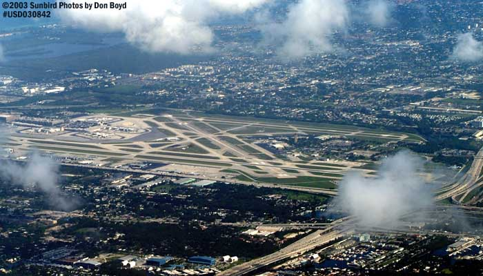 Ft. Lauderdale-Hollywood Intl Airport airport aerial stock photo #6590