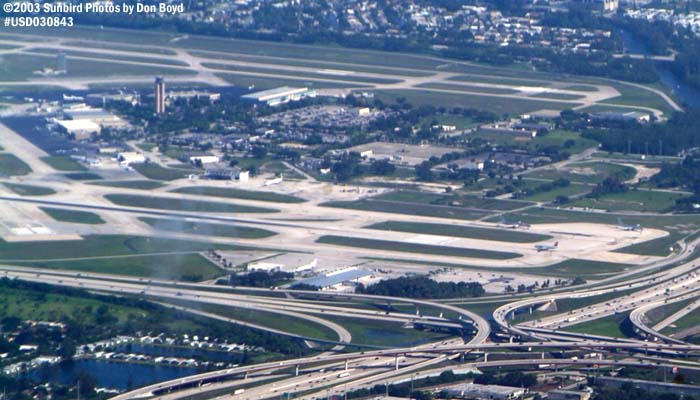Ft. Lauderdale-Hollywood Intl Airport airport aerial stock photo #6591