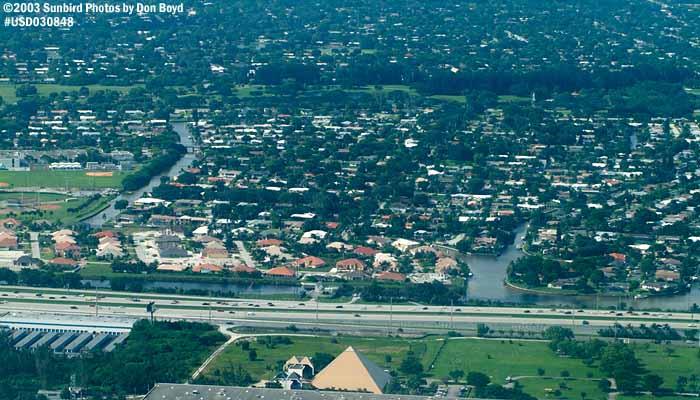 2003 - Plantation, Florida landscape aerial stock photo #6597