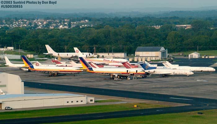 August 2003 - Derelict airliner fleet at Smyrna