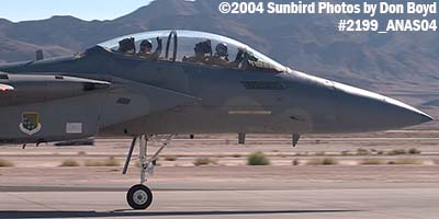 USAF F-15 Eagle #AF83-048 at the 2004 Aviation Nation Air Show stock photo #2199