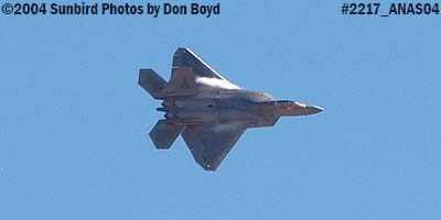 USAF F/A-22 Raptor #AF00-013 at the 2004 Aviation Nation Air Show stock photo #2217