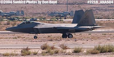 USAF F/A-22 Raptor #AF00-013 at the 2004 Aviation Nation Air Show stock photo #2218