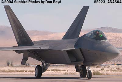 USAF F/A-22 Raptor #AF00-013 at the 2004 Aviation Nation Air Show stock photo #2223