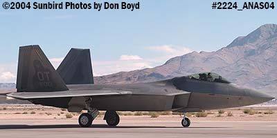USAF F/A-22 Raptor #AF00-013 at the 2004 Aviation Nation Air Show stock photo #2224