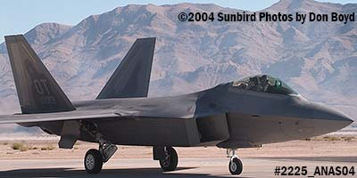 USAF F/A-22 Raptor #AF00-013 at the 2004 Aviation Nation Air Show stock photo #2225