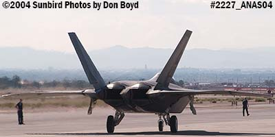 USAF F/A-22 Raptor #AF00-013 at the 2004 Aviation Nation Air Show stock photo #2227