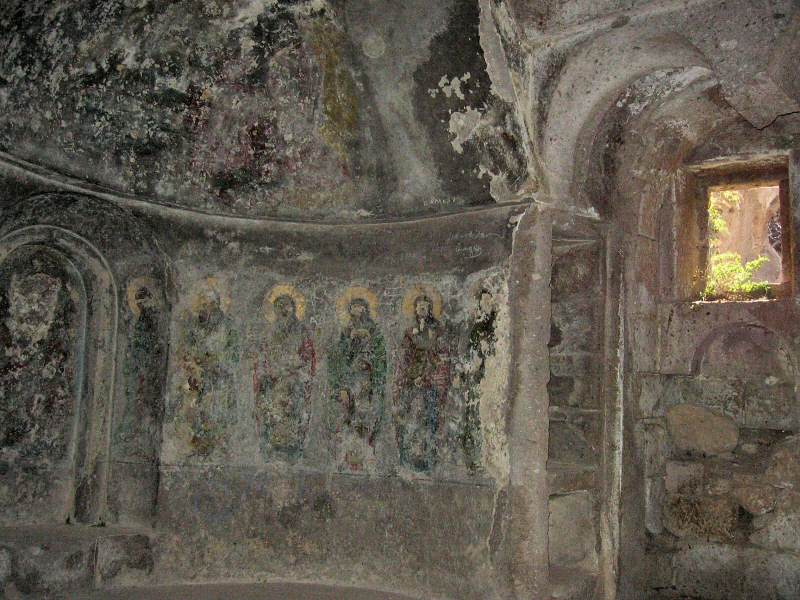 St. Gregorys (?) Church - now a mosque.  Remaining frescos.