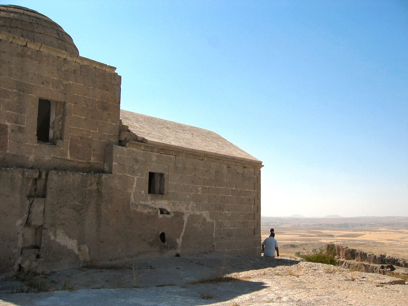 Monastery high on a hill in Guzelyurt area
