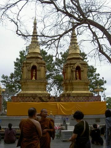 Two Chedi at Wat Prathat Doi Tung