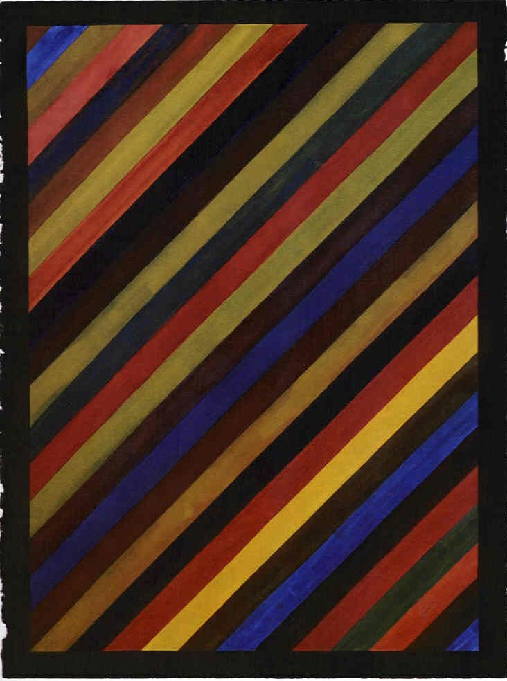 Sol Lewitt -diagonal stripes