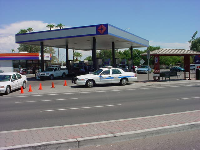 orderly in and out to get gas